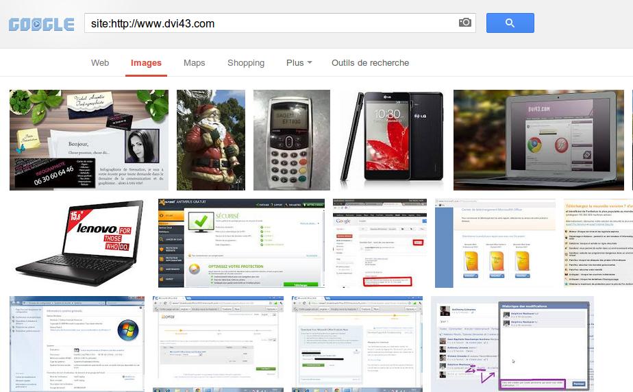 images indexées sur google