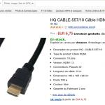 câble HDMI 10 mètres