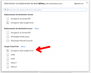 google chrome enregistrer dans google drive