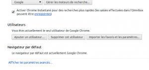 google chrome paramètres avancés