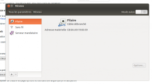 reglages réseau ubuntu
