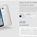 nexus 6 disponibilité