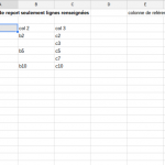 google spreadsheet fonction filter