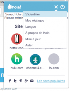 chrome hola settings