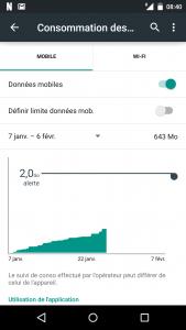 consommation de données netflix