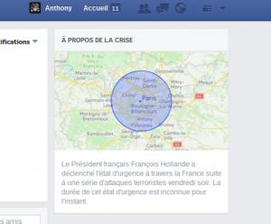 zone de danger paris 13 novembre facebook