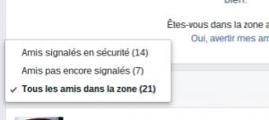 en sécurité paris 13 novembre facebook