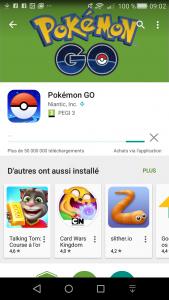 pokemon go sur android