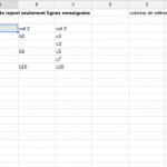 google spreadsheet fonction filter