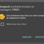 android sms surtaxé